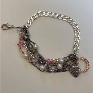 Betsey Johnson Silver Bracelet